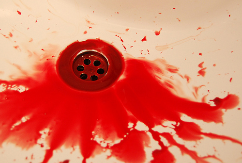 Image result for spitting blood picture